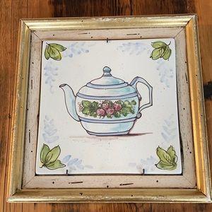 Teapot tile picture